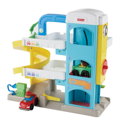 Fisher Price Little People Garage + 2 Autos