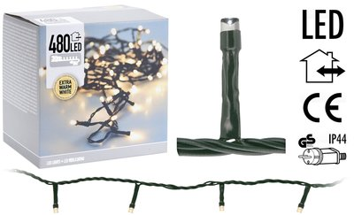 LED-verlichting 480 LED's 36 meter - extra warm wit