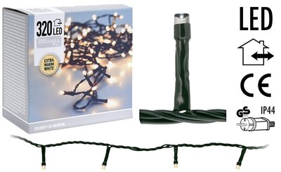 LED-verlichting 320 LED's 24 meter - extra warm wit