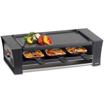 Trisa 6-Persoons Pizza Raclette Zwart
