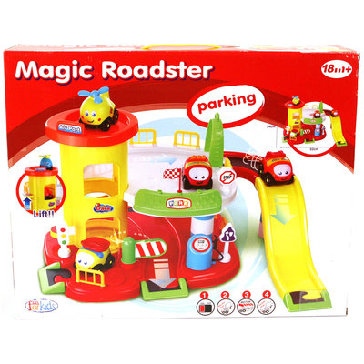 Fun For Kids Magic Roadster Parkeergarage met Auto's en Geluid 52x34 cm