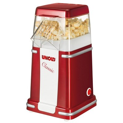Unold 48525 Classic Popcornmaker Rood/Wit