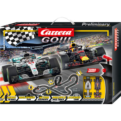 Carrera Go!!! Max Speed Racebaan Set 630 cm + 2 Controllers en 2 Autos