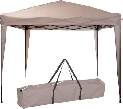 Easy-up Partytent - 3x3m - Opvouwbaar - Taupe