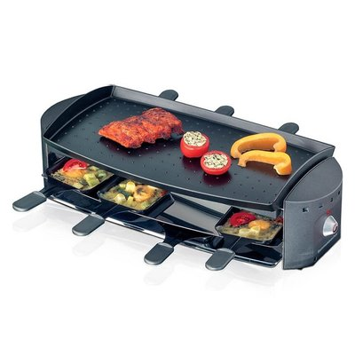 Rommelsbacher RC1200 Ottimo 8 Persoons Raclette-Grill 1200W RVS/Zwart