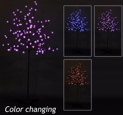 Silhouetboom multi color (108 LED's)