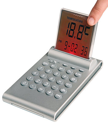 Multifunktionele alarm klok met push-up LCD display