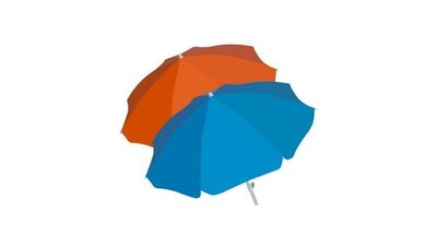 Summertime Mix Parasol + Knik 180cm Assorti