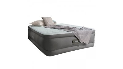 Intex 64486 Queen Premaire Airbed + Pomp + LED + USB 203x152x46 cm