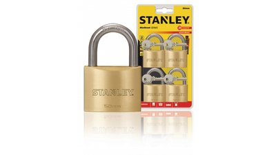 Stanley S742-039 Padlock Solid Brass 50 Mm 4-pack
