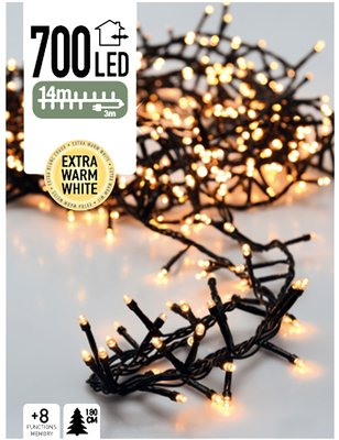 Micro Cluster 700 LED's 14 meter warm wit