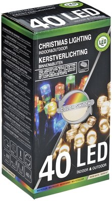 Verlichting 40 LED's  Color Switch warmwit - multicolor