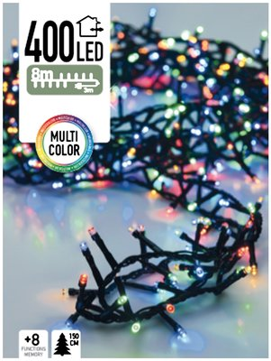 Micro Cluster 400 LED's 8 meter multicolor