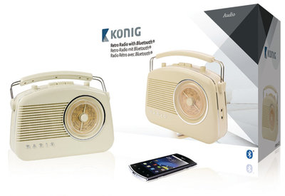 Konig HAV-TR800BE Retroradio met Bluetooth