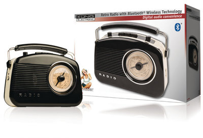 Konig HAV-TR800 BL Retro-Radio met Bluetooth Wireless Technology