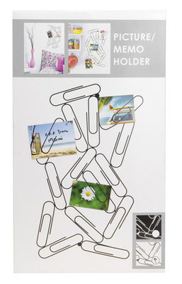 Foto/ memo houder paperclip wit