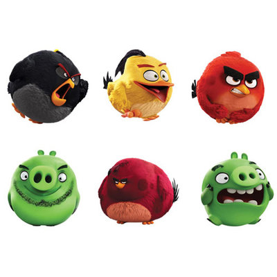 Angry Birds Classic Pluche Knuffel 12cm Assorti