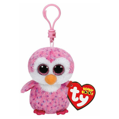 Ty Beanie Boo Glider Clip Pinguin Knuffel Roze