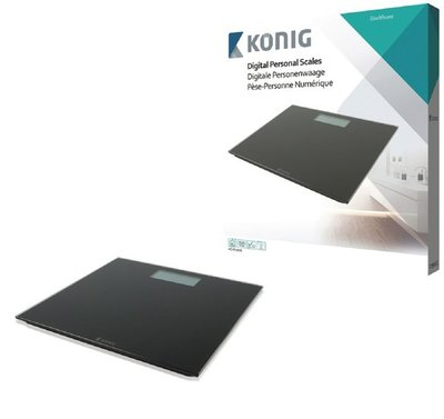 Konig HC-PS101N Ultraplatte Digitale Personenweegschaal