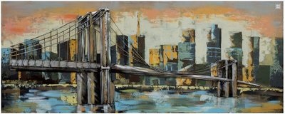 Metalen schilderij brooklyn bridge