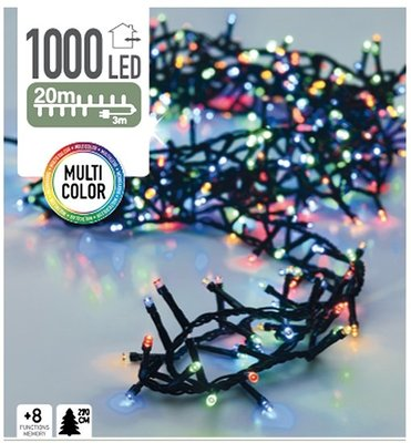 Micro Cluster 1000 LED's 20 meter multicolor