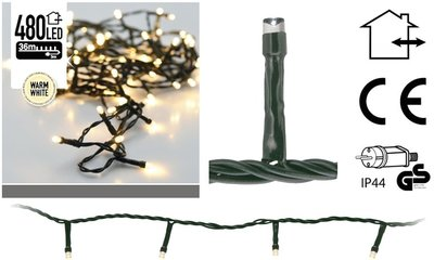 Kerstverlichting 480 LED's 36 meter warm wit