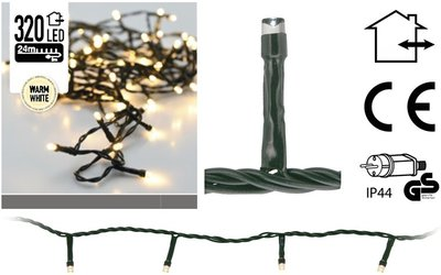 Kerstverlichting 320 LED's 24 meter warm wit