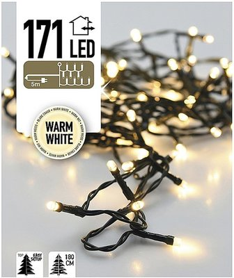 Easy Setup Kerstboomverlichting 171 LED's warm wit