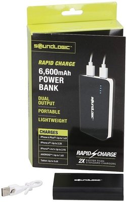 Powerbank - 6600mAh - Rapid charge