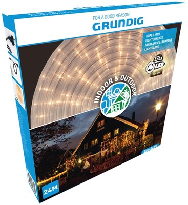 Grundig Lichtslang 24 meter - 576 LED - warm wit