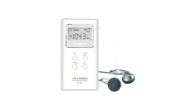 Sangean DT120 Digitale Pocket Radio Wit/Zilver