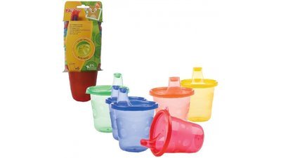 Nuby Anti-Lek Drinkbeker met Tuit 210ml Assorti