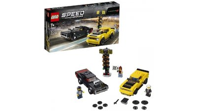 Lego Champions 75893 2018 Dodge Challenger SRT Demon + 1970 Dodge Charger R/T