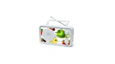 Muse M-05VF Portable Radio Wit met Fruitprint