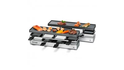 Rommelsbacher RC1600 4+4 Persoons Raclette-Grill 1950W Zilver/Zwart