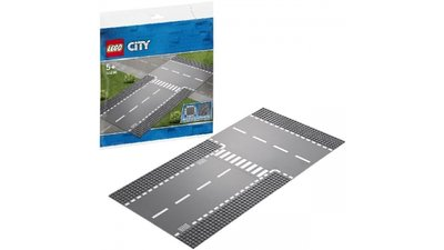 Lego City 60236 Rechte en T-splitsing Wegplaten
