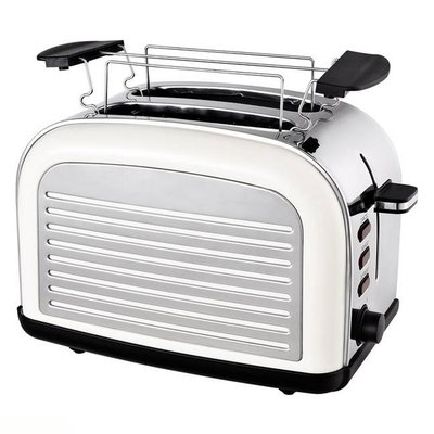 Efbe-Schott TO2500 Retro Broodrooster 1050W RVS/Crème
