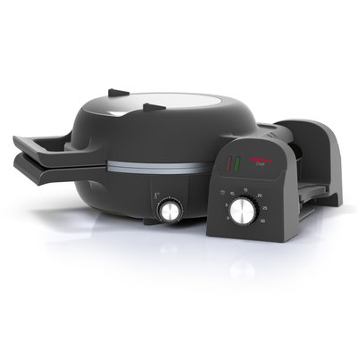 Princess 118000 Chef Tortilla- en Pizzamaker 1300W RVS/Zwart
