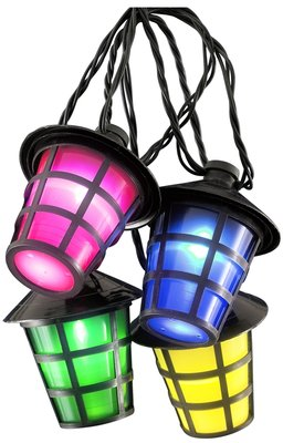 Tuinverlichting met 20 LED-lantaarns - multicolor